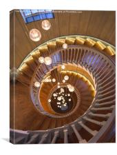 The Spiral Stairs, Canvas Print