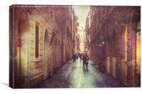 A Walk in Rome, Canvas Print