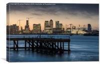 Sunset over the Wharf, Canvas Print
