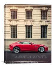 Jaguar F-Type Coupe 2015, Canvas Print