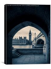 Westminster View, Canvas Print