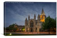 Rochester Cathedral at Dusk, Canvas Print