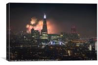 London City Fireworks 2017, Canvas Print