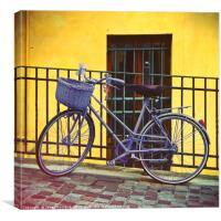 Purple Bike, Canvas Print