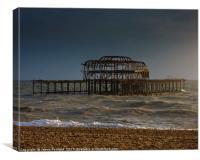 West Pier Ruins, Canvas Print