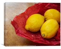 Still Life with Lemons, Canvas Print
