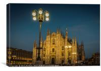 Milan Duomo at Night, Canvas Print