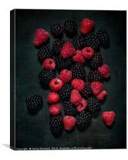 Blackberries & Raspberries, Canvas Print