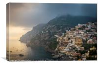 Clouds Over Positano, Canvas Print