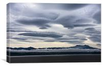 Lenticular clouds over Port McNeill, Canvas Print