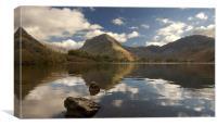 autumnal lake, Canvas Print