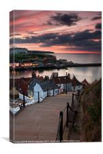 The 199 Steps At Sunset., Canvas Print