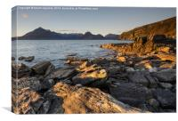 Elgol Sunset, Canvas Print
