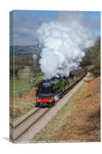 60103. The Flying Scotsman at Green End., Canvas Print