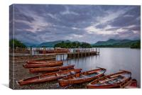 Landing Stages At Derwent Water, Lake District., Canvas Print