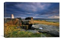 Trigg Point. The Great Bridestones., Canvas Print