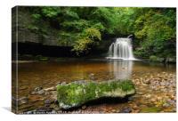 West Burton Waterfall, Canvas Print