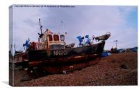 NN201 Fishing boat, Canvas Print