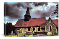 Church HDR, Canvas Print