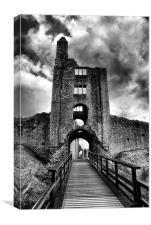 Sherborne Castle B-W HDR, Canvas Print