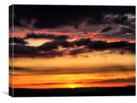 Westbury Sunset, Canvas Print