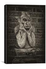 Gargoyle statue, Canvas Print
