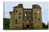 Old Wardour Castle (Front View), Canvas Print