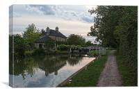 Semington Lock and House Oppisite Direction, Canvas Print
