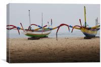 Bali Boats A, Canvas Print