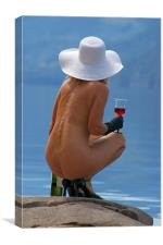 Wine and Sun Hats 5, Canvas Print