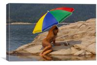 Beach Umbrella 8, Canvas Print