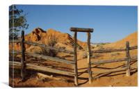 Ranch Gate A, Canvas Print