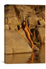 Nude at Sunset 4, Canvas Print