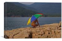 Beach Umbrella, Canvas Print