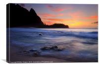 Tunnels Beach Sunset, Canvas Print