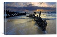 Reclaimed by the Sea , Canvas Print