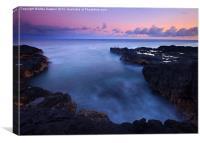 Kauai  Pastel Tides, Canvas Print