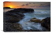 North Shore Sunset, Canvas Print