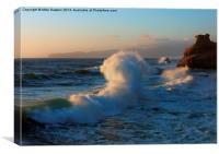 Waves Collide, Canvas Print