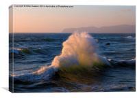 Wave Collision, Canvas Print