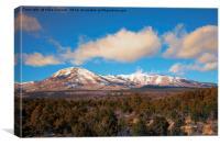 Snow on the Peaks, Canvas Print