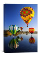 Balloons Reflections, Canvas Print