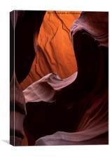 Red Desert Depth, Canvas Print