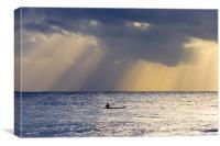 Kayak At Dawn, Canvas Print