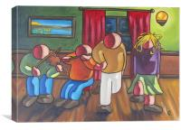 A tune for the dancers, Canvas Print
