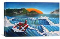 Euskadi Surfer, Canvas Print