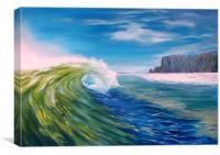 At the Cliffs, Canvas Print