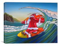 Santa's new Sled, Canvas Print