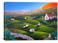 More Burren Sheep, Canvas Print