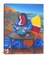 Mona Lisa Was a Surfer, Canvas Print